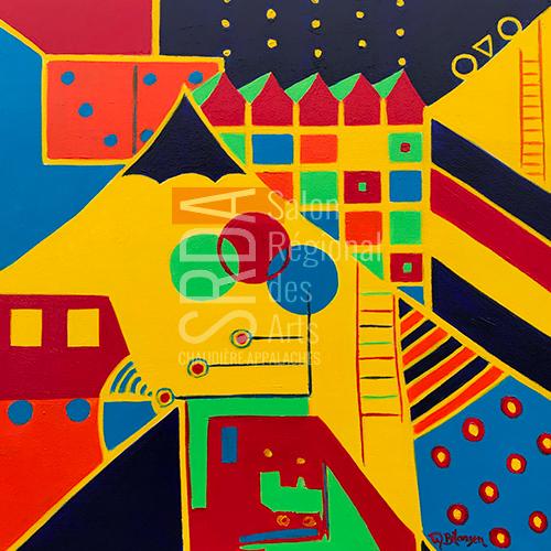 Marie Bélanger - Sous le grand chapiteau - 20 x 20 - 400 $