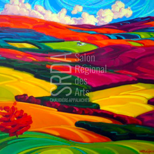 Martine Chassé - Flamboyant - 36 x 36 - 1500 $