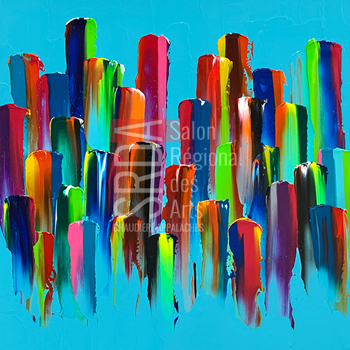 Hugo Landry - All is love - 40 x 40 - 1870 $