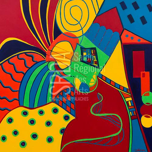 Marie Bélanger - Au coeur du labyrinthe - 30 x 30 - 600 $