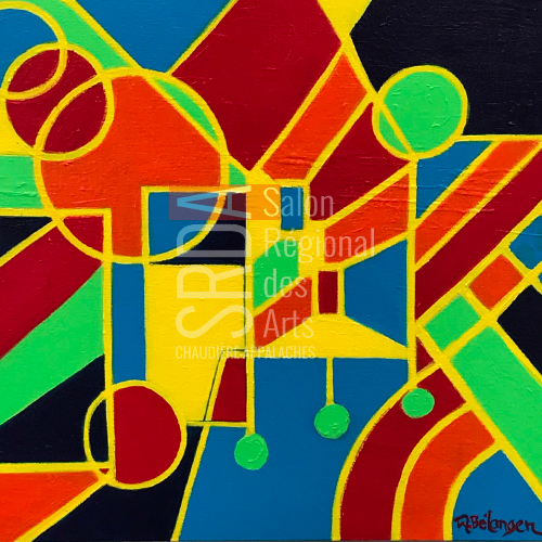 Marie Bélanger - Cercles et pendules - 16 x 16 - 300 $