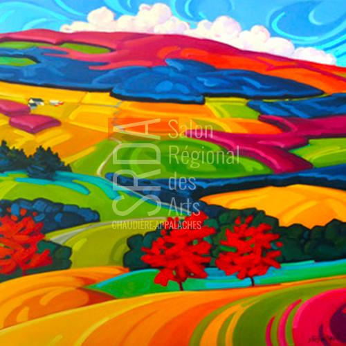 Martine Chassé - belles récoltes - 36 x 36 - 1500 $